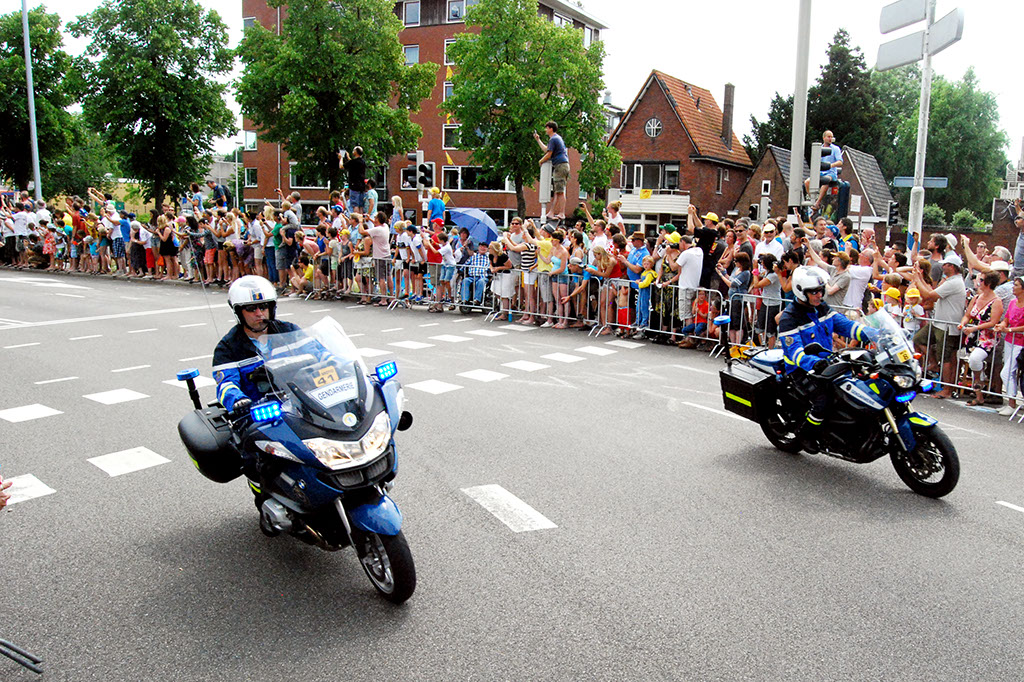 Franse gendarmes in het Utrechtse straatbeeld